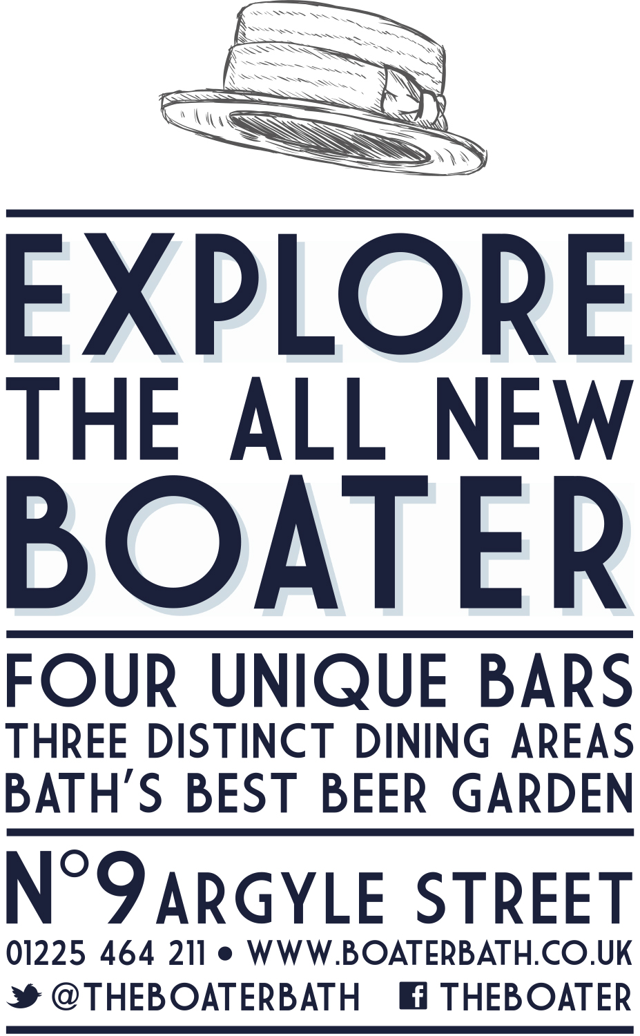 The Boater 4 Sheet Advertising
