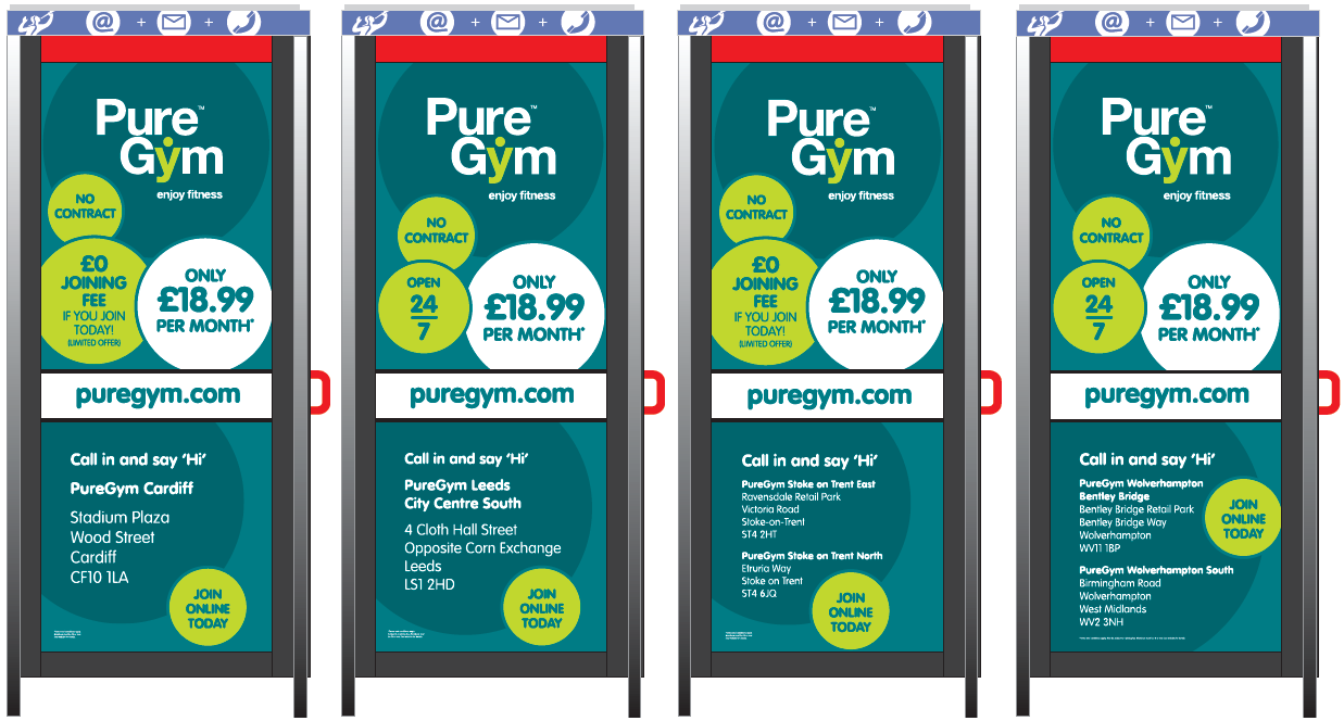 Pure Gym - Telephone Boxes